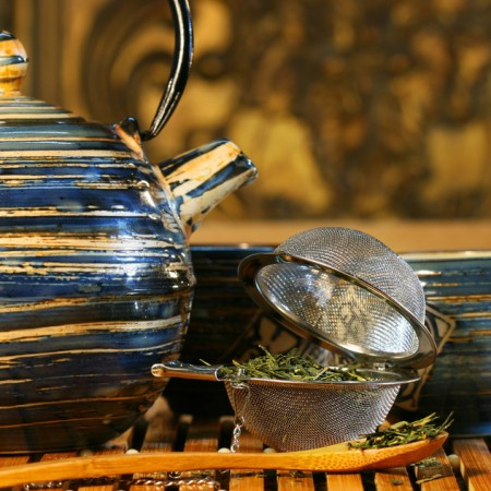 Blue Japanese teapot